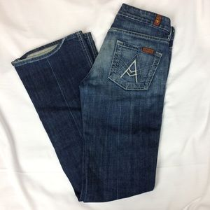7 For All Mankind Size 25 Boot Cut Jeans